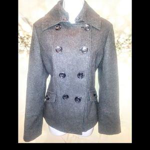 Guess gray wool pea coat. Large